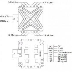 Flycolor X-cross 40A 3-6S 4 IN 1 FPV Brushless ESC