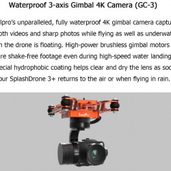 Swellpro Splashdrone 3+ Waterproof Drone for search and rescue, for filming and more