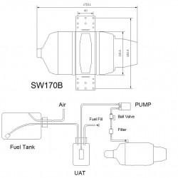 Swiwin SW170B Turbine Brushless starter and Brushless pump