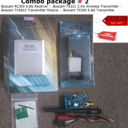 Boscam RC305 Receiver, Boscam TS321 2.4G Transmitter, Boscam TX5823, Boscam TS350 5.8G Transmitter Combo Deal 2