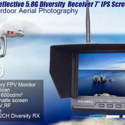 Feelworld FPV Monitor dual 32Ch 5.8GH receivers FPV720