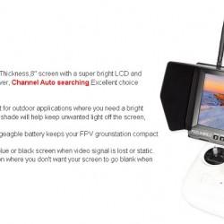 Feelworld 8in FPV Monitor dual 32CH 5.8GHz FPV821