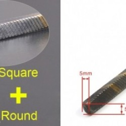 Flexible Axle (Round & Square) in Reverse Length=500mm for Boats x 2