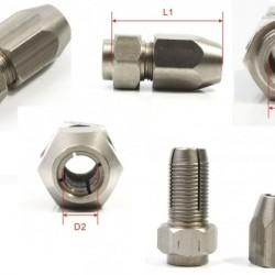 Collet Length=30mm Dia-A=M8-1.25 Dia-B=6.35mm