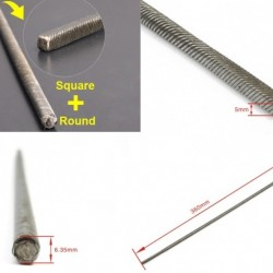 Flexible Axle (Round & Square) Positive  Length=360mm for Boats x 2