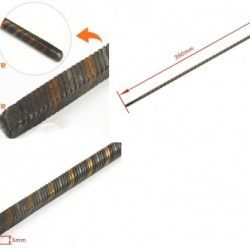 Flexible Axle (Both Square) Positive Length=390mm for Boats x 2