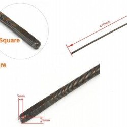 Flexible Axle (Both Square) Positive Length=410mm for Boats x 2