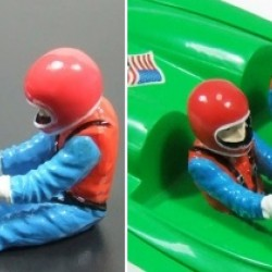 Resin Racing Figure for RC Boat length=32mm