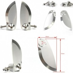 Aluminium Alloy Stabi Length=30mm Height=72mm for RC boat (a pair)