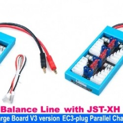 Parallel Charging Board with EC3 Plug and with JST-XH Balance Line