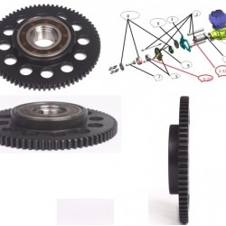 Large Black Gear Hub with Clutch for NEW EME55 Electric Starter