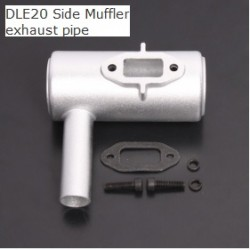 Aluminium Alloy Side Muffler Exhaust Pipe for DLE20