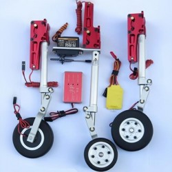 JP Hobby 12mm Scale Metal Oleo Struts Set with Retracts + Wheels + Brakes for Turbo Model