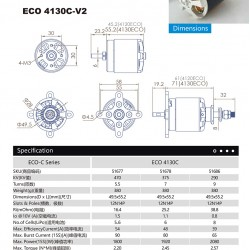 Dualsky ECO4130C Motor with Many KV to Choose