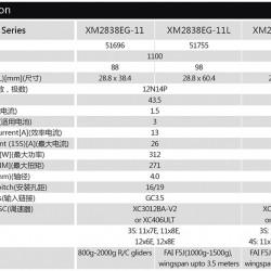 Dualsky XM2838EG-11 KV1100 Motor for Glider x2