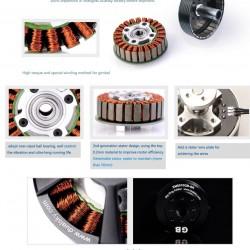 Dualsky XM5015GB-SR Gimbal Brushless Motor Slip Ring Edition x2
