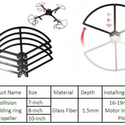8 inches DIY Glass Fiber Propeller Anti-collision
