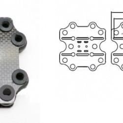 3K Carbon Fiber Shock Absorbing Plate A8