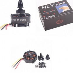 Hengli W4225 Brushless Outrunner Disk Motor KV610 for RC Quadcopter (Pair)