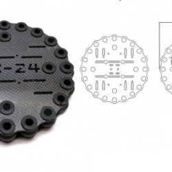 3K Carbon Fiber Shock Absorbing Plate A24