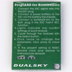 Dualsky ProgCard for V2 Xcontrollers