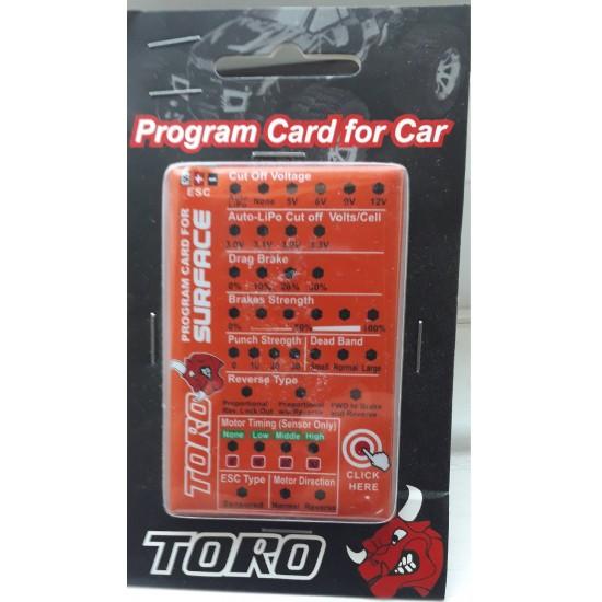 SKYRC Toro Program Card for Car