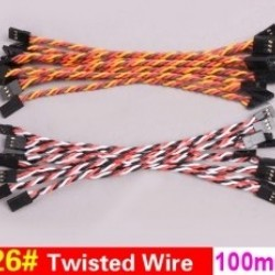 20x 26# 26AWG Twisted Wire 10cm 100mm