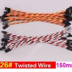 20x 26#/ 26AWG Twisted Wire 15cm 150mm