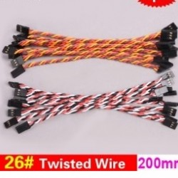 20x 26#/ 26AWG Twisted Wire 20cm 200mm
