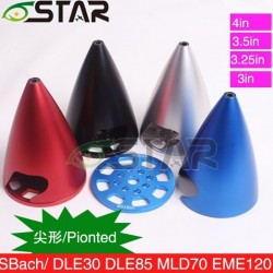 6starhobby Pointed Spinner 3'' for DLE engine/Sbach RC Plane