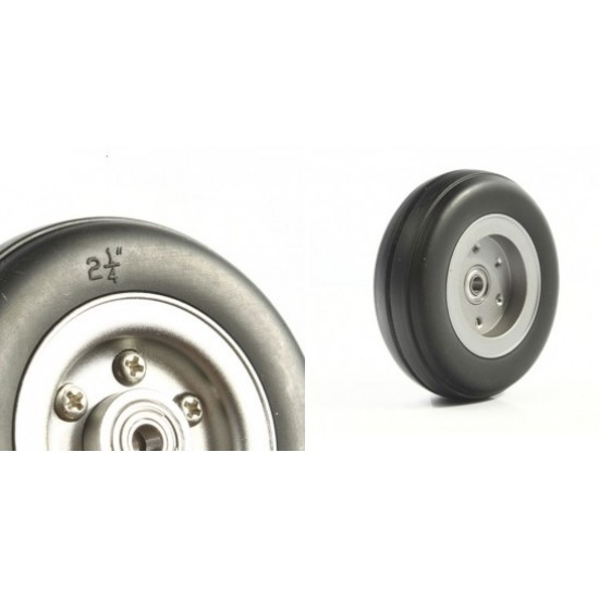 Rubber Wheel 2.5 inch for RC Plane (pair)